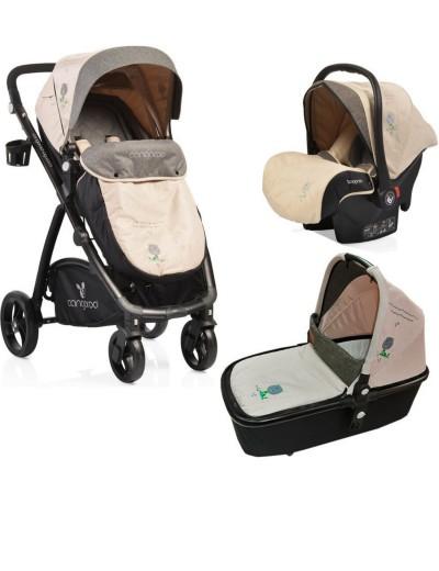Cangaroo Παιδικό Καρότσι Stefanie 3 σε 1 Beige 3800146234218