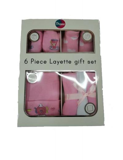 Σετ δώρου για νεογέννητο Dreams ροζ 10015