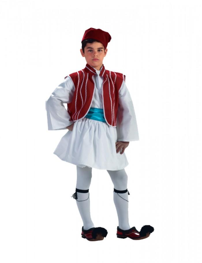 Αγόρι  4-14  παραδοσιακή φορεσιά τσολιά  απλή  30012κοκ